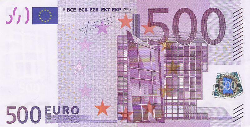 500 Euron Seteli