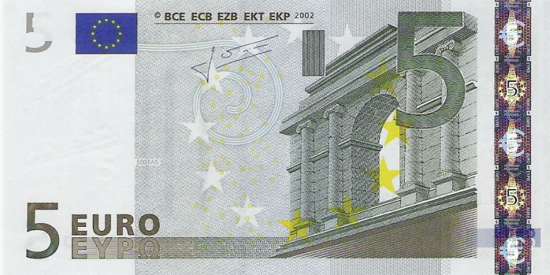 5 Euron Seteli