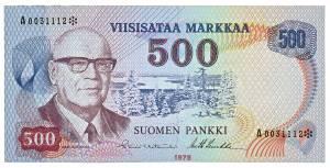 Kekkonen 500 markkaa 1975